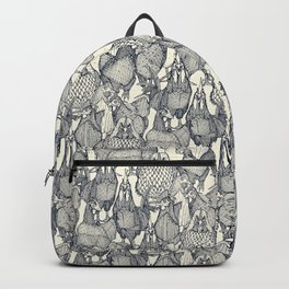 just chickens indigo pearl Backpack