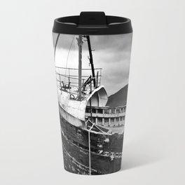 Highland Shipwreck - b/w Travel Mug