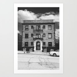 MUSE Black and White Art Print