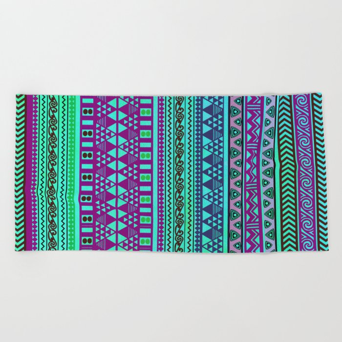Inspired Aztec Pattern 4 Beach Towel