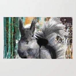 Cheeky Industrious Squirrel  Rug