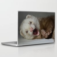 ferret Laptop & iPad Skins featuring Cute Ferret by TheDookingFerret