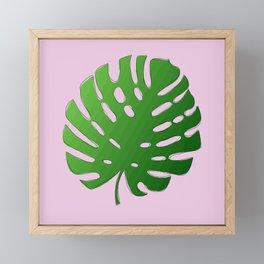 Palm Tree Leafy (pink) Framed Mini Art Print