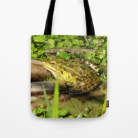 frog Tote Bags featuring frog by giol's