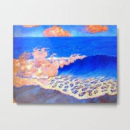 Georges Lacombe - Marine bleue, Effet de vague  - Les Nabis Painting Metal Print