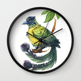 Blue Crowned Motmot Wall Clock