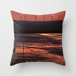 River Alt and the wind farm Throw Pillow