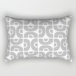 Groovy Mid Century Modern Pattern Gray Rectangular Pillow