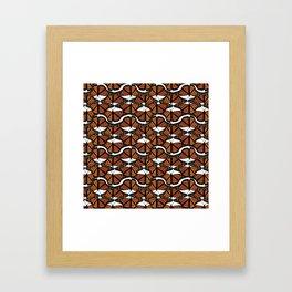 Orange Mariposis  Framed Art Print