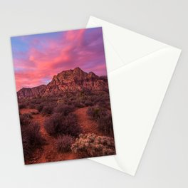 Sunrise at Red Rock Stationery Cards