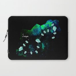 Scorpio Constellation in Turquoise - Star Signs and Birth Stones Laptop Sleeve