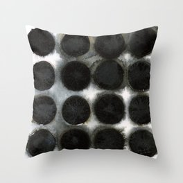 WATERCOLOUR DISCS: Black Spinel Throw Pillow