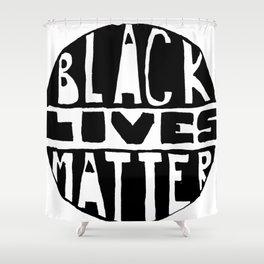 Black Lives Matter Filled Shower Curtain