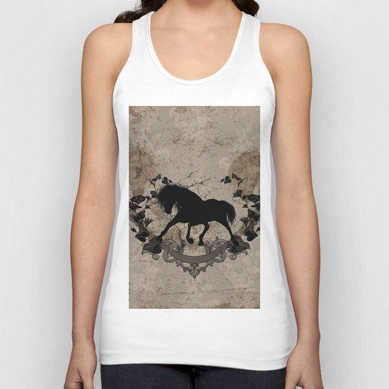 Horse silhouette Unisex Tank Top