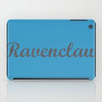 ravenclaw iPad Cases featuring One word - Ravenclaw by husavendaczek