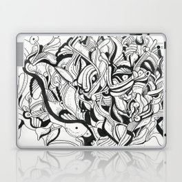 Squiggly Wiggly Lines Laptop & iPad Skin
