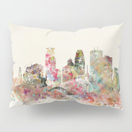minneapolis city skyline Pillow Sham