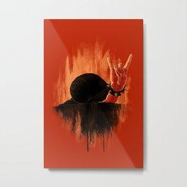 Rock Hard Snail Metal Print