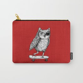Ride On Owl_red Carry-All Pouch