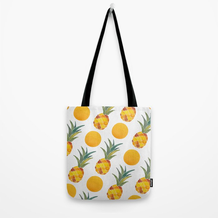 Pineapple Dot Pattern Tote Bag