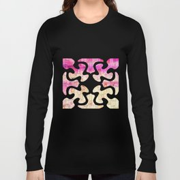 Pink Sea Mosaic Long Sleeve T-shirt