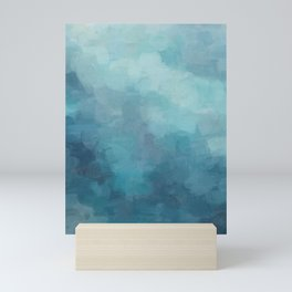 Mint, Aqua, Turquoise, Navy, Blue, Nautical Wall Art, Abstract Art Prints, Wall Decor, Abstract Painting, Modern Minimal Art Mini Art Print
