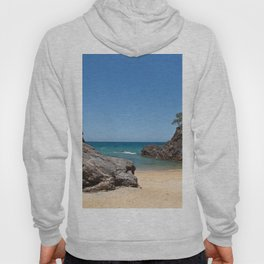 Tropical beach with rock Hoody