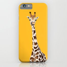The Nose-picking Giraffe (no fingers needed) iPhone Case