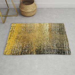 Gold and Black Texture Rug