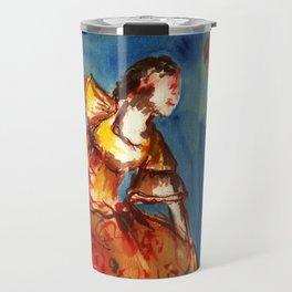 Watercolor Folklore dance Carimbo - joy and fun Travel Mug