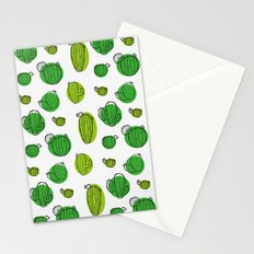 Green Cactus pattern Stationery Cards