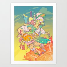 FURY Art Print
