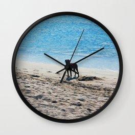 Livin' at the sea Wall Clock