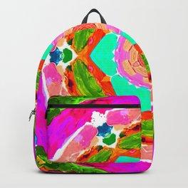 my rainbow heart mandala Backpack