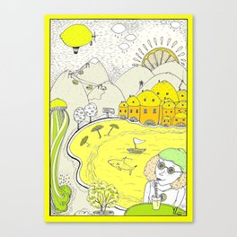 Lemon paradise Canvas Print