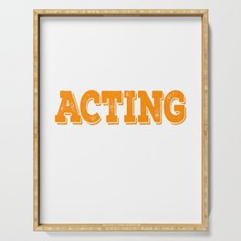 Tell the world how you love acting with this awesome cool and fantastic tee! Wear it anytime!  Serving Tray