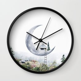 Moon House Wall Clock