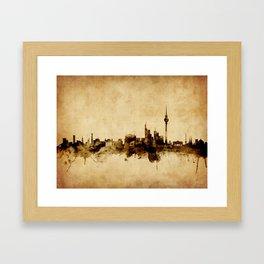 Berlin Germany Skyline Framed Art Print