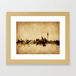 Berlin Germany Skyline Framed Art Print