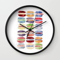 macaron Wall Clocks featuring Macaron by Marta Li