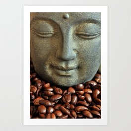 Coffee Buddha 3 Art Print