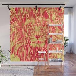 Vintage Bamboo Lion Print Wall Mural