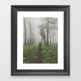 Through The Mist • Appalachian Trail Framed Art Print