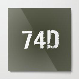 74D CBRN Specialist Metal Print