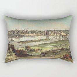 Aerial View of St. Paul, Minnesota (1874) Rectangular Pillow