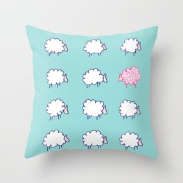 Be unique be you Throw Pillow