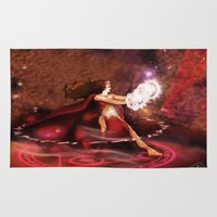supreme Area & Throw Rugs featuring Scarlet Witch Sorceress Supreme by RebeccaMiller