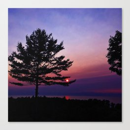 Setting Star Canvas Print
