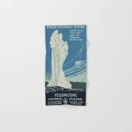 Vintage poster - Yellowstone Hand & Bath Towel
