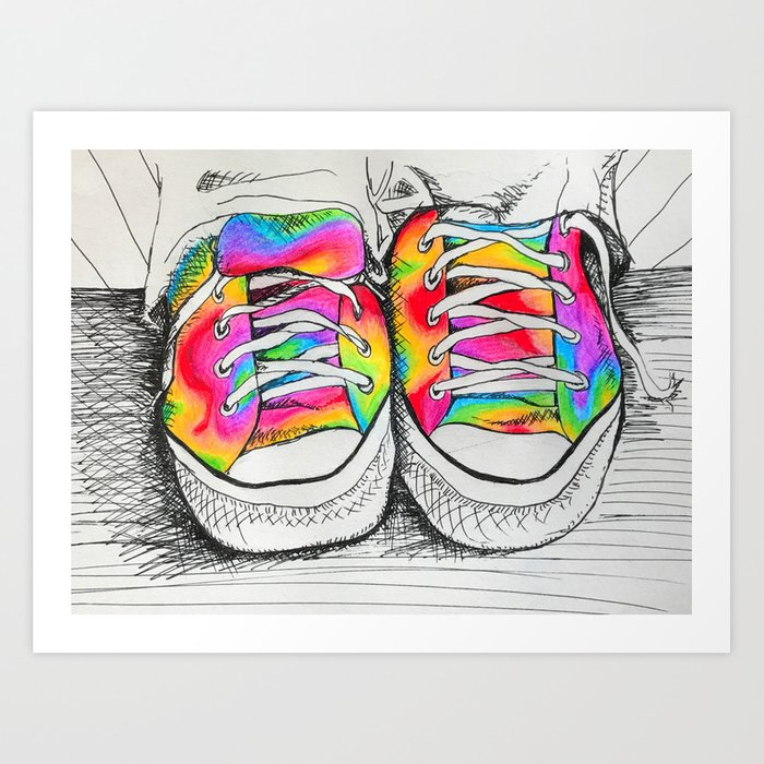 Walk a Mile in my Chucks Art Print